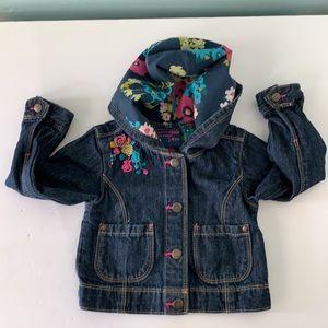 Oshkosh Genuine Kids Hooded Snap Front Jacket, 24M